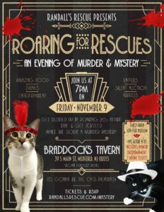Murder Mystery Dinner Animal Rescue Fundraiser Braddocks Tavern Medford New Jersey